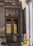 Door in chains Stock Photography