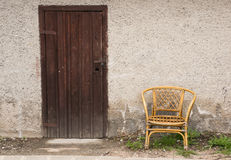 Door and chair Royalty Free Stock Photo