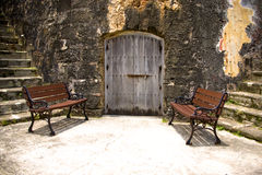 Door and chairs Stock Photography