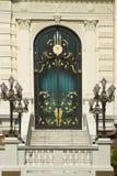 The door of Chakri Palace. At the Royal Grand Palace in Bangkok, Thailand Stock Photo