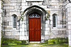 Door of the Chapel Royal. A door leading into the Chapel Royal at the Dublin Castle in Ireland Royalty Free Stock Photo