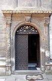 Door of chapel of Three Saints, Lviv, Ukraine Royalty Free Stock Photo