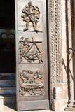 Door of Chiesa di San Fermo Maggiore in Verona Stock Photos