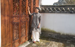 The door of Chinese classical pattern-Chinese style architecture Stock Image
