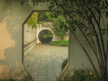 Door of Chinese garden Royalty Free Stock Images