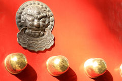 Door of Chinese Style. Classical doorknob Stock Photography