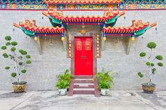 The door of chinese temple Royalty Free Stock Photo