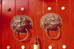 Door of chinese temple Stock Image