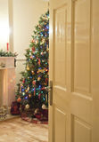 Through the door into christmas Royalty Free Stock Photography