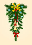 Door christmas decoration - 1 Royalty Free Stock Image