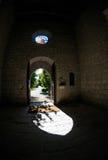 Door-church. Shadow of a church door open Stock Image