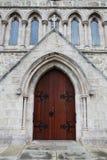 The door of church. In Australia stock photos