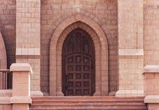 Door of church. Beautiful Antique door of the Catholic Church Stock Images