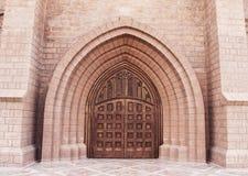 Door of church 2. Beautiful old door of the Catholic Church Royalty Free Stock Photos