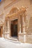 Door of church in Ciutadella. Ciutadella city at Menorca island in Spain Royalty Free Stock Image
