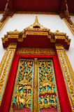 Door of the church. At the country of thailand Royalty Free Stock Photography