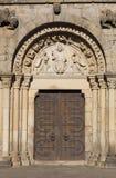 Door in the Church of Dinan Stock Photo