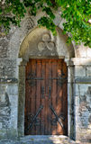 Door of church in Han-sur-Lesse Stock Images