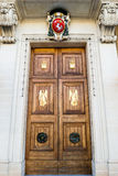 Door of Church of Our Lady of Victories Senglea Basilica. Malta, Senglea - 10 Jan 2016: Door of Church of Our Lady of Victories Senglea Basilica Stock Photography
