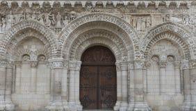 Door of Church Poitiers Royalty Free Stock Photos