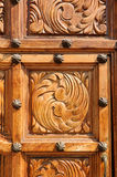 Door, Church of Saint Andrew, Ajijic, Mexico Royalty Free Stock Images