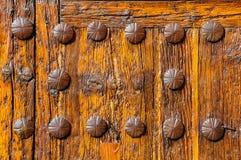 Door of the Church of Saint Peter in Avila, Spain royalty free stock images