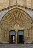Door of the church of Santa Maria, Guernica, Basque Country, Sp Stock Photography