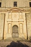 Door of church in Ucles Royalty Free Stock Photo