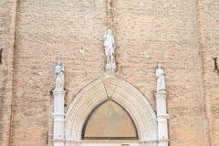 Door of church in Venice Royalty Free Stock Photography