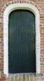 Door of the church of Zeerijp Stock Photography