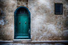 A door in the city of Mdina, Malta. A photo of an old green door in the historical city of Mdina, Malta Royalty Free Stock Photo