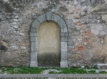 Door clogged with concrete. Door on church clogged with concrete Royalty Free Stock Photos