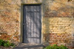 Door closed on the lock Royalty Free Stock Images