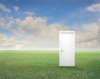 Door with the Clouds Royalty Free Stock Images
