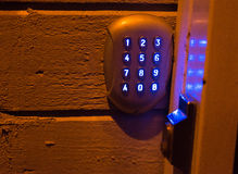 Door code lock Stock Photo
