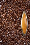 Door from coffee grains Royalty Free Stock Photo