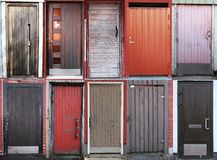 Door collection. Outdoor collection of 1o doors Stock Image