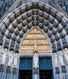Door of the Cologne Cathedral Royalty Free Stock Images
