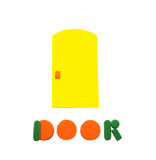 Door. The door of the colored figures on a white background Stock Photos