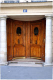 Door with columns Stock Photo