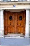 Door with columns Stock Photo