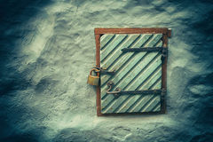 Door in concrete wall Royalty Free Stock Photos