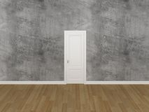 Door on concrtete wall ,3d Royalty Free Stock Photo