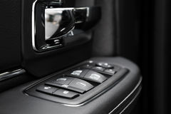 Door control panel in a modern car Royalty Free Stock Photo