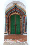 Door of convent of the Intercession Stock Photos