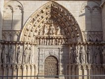 North door of the Cathedral - Burgos royalty free stock image