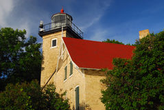 Door County Lighthouse. Old Lighthouse on the peninsula of Door County royalty free stock images