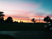 Door County Sonnenuntergänge Lizenzfreies Stockfoto