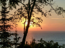 Door County Sunset Royalty Free Stock Photography