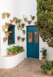 Door in courtyard in Palacio de Viana Cordoba Royalty Free Stock Photo